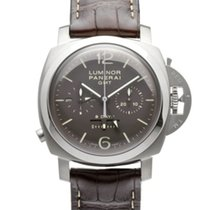 Panerai Luminor 1950 8 Days Chrono Monopulsante GMT Titanio 44mm Marrón