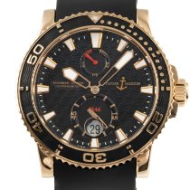 Ulysse Nardin Maxi Marine Diver Yellow gold 43mm Black