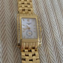 Longines Yellow gold Manual winding White No numerals pre-owned DolceVita