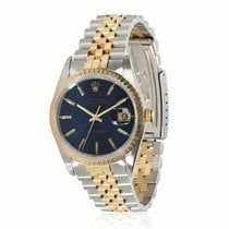 Rolex Oyster Perpetual Date Gold/Steel 34mm Blue