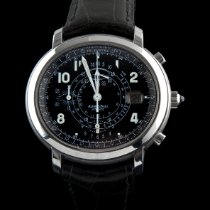 Audemars Piguet Millenary Chronograph pre-owned 41mm Black Chronograph Date Leather