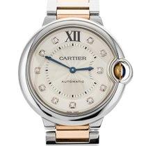 Cartier Ballon Bleu 36mm Золото/Cталь 36mm Cеребро Римские