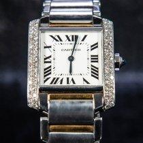 Cartier Tank Française Gold/Steel 30mm White Roman numerals