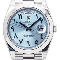 Rolex Day-Date 40 Platinum 40mm Blue Arabic numerals