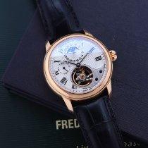 Frederique Constant Manufacture Heart Beat Rose gold 42mm Silver Roman numerals