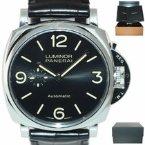 Panerai Luminor Due pre-owned 45mm Black Leather