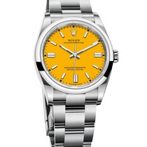 Rolex Oyster Perpetual Steel 41mm Yellow No numerals