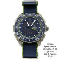 Omega Speedmaster Skywalker X-33 Titânio 45mm Azul Sem números