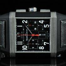 Jaeger-LeCoultre Reverso Squadra Chronograph GMT Stahl 35mm Schwarz