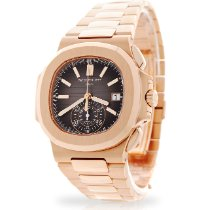 Patek Philippe Nautilus Rose gold 40.5mm Black No numerals