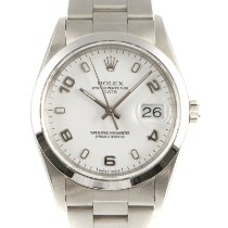 Rolex Oyster Perpetual Date Staal 34mm Wit