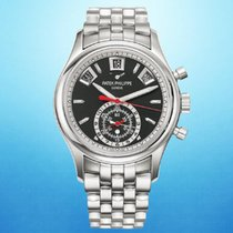 Patek Philippe 5960/1A-010 Steel 2018 Annual Calendar Chronograph 40.5mm pre-owned