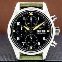 IWC Steel Automatic Arabic numerals 41mm Pilot Spitfire Chronograph