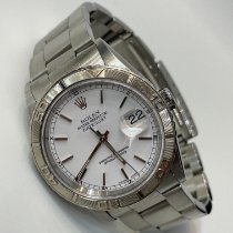 Rolex Steel Automatic White No numerals 36mm pre-owned Datejust Turn-O-Graph