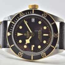 Tudor Black Bay S&G pre-owned 41mm Black Leather