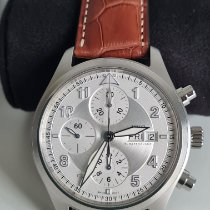 IWC Pilot Spitfire Chronograph Steel 42mm Silver Arabic numerals