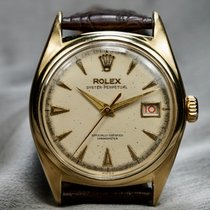 Rolex Bubble Back Yellow gold 35mm Champagne