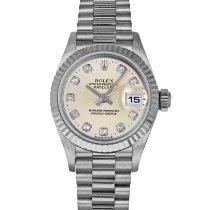 Rolex Белое золото Автоподзавод Cеребро 26mm подержанные Lady-Datejust