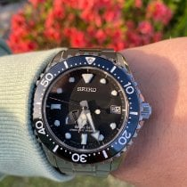 Seiko pre-owned Automatic 44mm Black Sapphire crystal 20 ATM