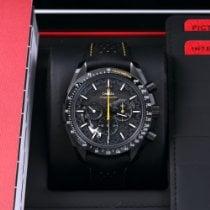 Omega Carbon Handaufzug Schwarz Keine Ziffern 44.25mm gebraucht Speedmaster Professional Moonwatch