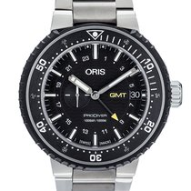 Oris ProDiver GMT pre-owned 49mm Black GMT Titanium