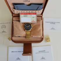Omega Yellow gold Automatic Blue No numerals pre-owned Seamaster Diver 300 M