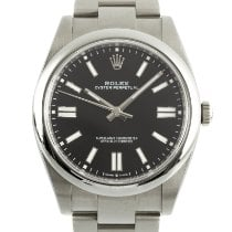 Rolex Oyster Perpetual Staal 41mm Zwart