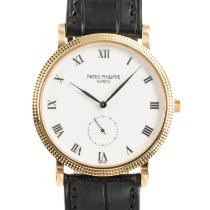 Patek Philippe Calatrava Yellow gold 33.5mm White