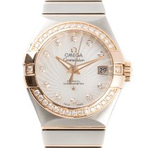 Omega Constellation Gold/Steel 28.5mm Mother of pearl