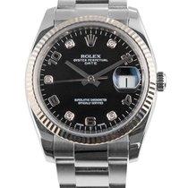 Rolex Oyster Perpetual Date Сталь 34mm Черный