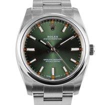 Rolex Oyster Perpetual 34 Steel 34mm Green Arabic numerals United Kingdom, London