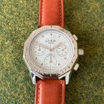 Glashütte Original Senator Chronograph gebraucht 38mm Weiß Chronograph Rindsleder
