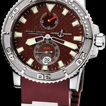 Ulysse Nardin Maxi Marine Diver pre-owned 42mm Brown Date Rubber