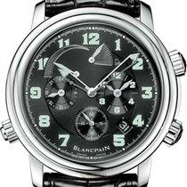 Blancpain Léman Réveil GMT Stahl 40mm Schwarz Arabisch