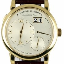 A. Lange & Söhne Lange 1 Yellow gold 38.5mm Silver Roman numerals United States of America, New York, Smithtown