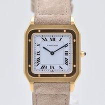 Cartier Santos Dumont Желтое золото 27mm Белый