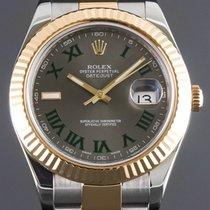 Rolex Datejust II Gold/Steel 41mm Silver Roman numerals