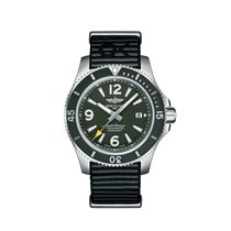 Breitling Superocean 44 Steel 44mm Green Arabic numerals United States of America, New York, New York City