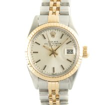 Rolex Lady-Datejust Gold/Steel 26mm Silver