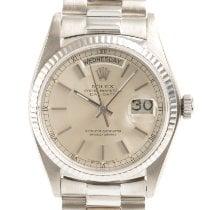Rolex Day-Date 36 Oro blanco 36mm Plata