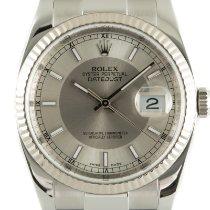 Rolex gebraucht Automatik 36mm Silber Saphirglas
