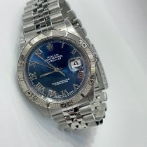 Rolex Datejust Turn-O-Graph pre-owned 36mm Blue Date Steel