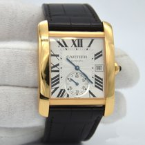 Cartier Tank MC pre-owned Silver Date Fold clasp