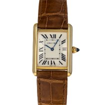 Cartier Tank Louis Cartier Yellow gold 34mm Silver Roman numerals United States of America, Maryland, Baltimore, MD