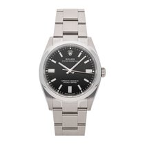 Rolex Oyster Perpetual 36 pre-owned 36mm Black Fold clasp