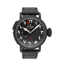 Zenith Pilot Type 20 GMT pre-owned 48mm Black Leather