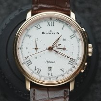 Blancpain Villeret pre-owned 43.6mm White Chronograph Flyback Date Fold clasp