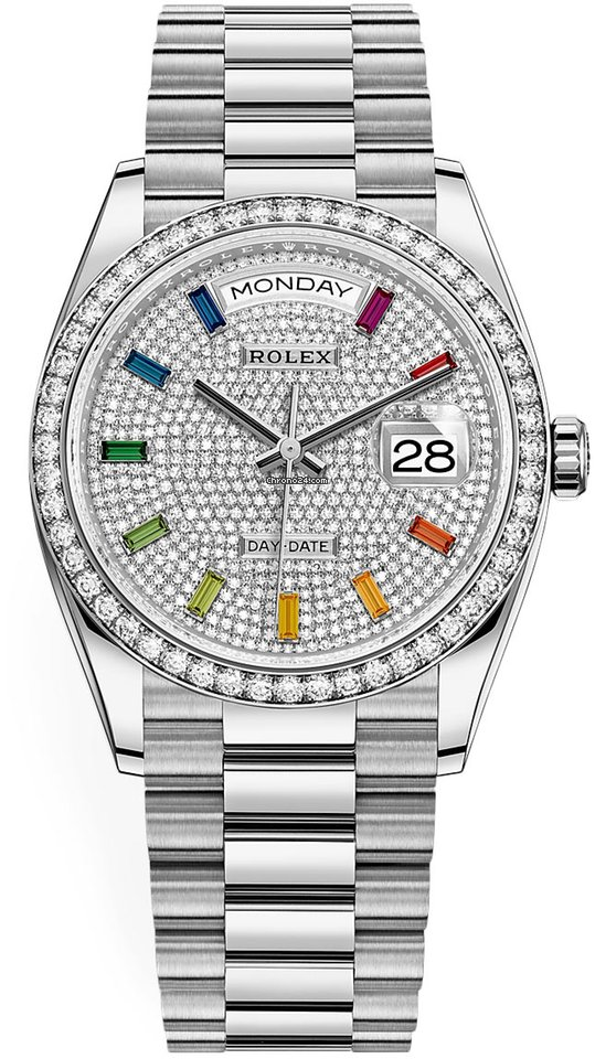 Rolex Day-Date 36 128349RBR Pave Rainbow 2021 nou