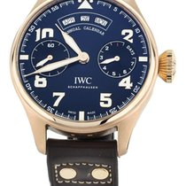 IWC Rose gold Automatic Blue 46mm pre-owned Big Pilot