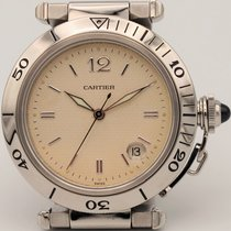Cartier Pasha Seatimer neu 1997 Automatik Uhr mit Original-Box und Original-Papieren 1040